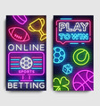 sports betting vertical banner design vector image vector image