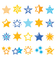 Stars gold and blue icons vector image vector image