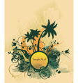 Summer background with palm trees vector image