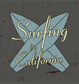 surfing in california vector image vector image