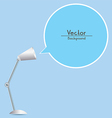 Table Lamp With Speech Bubble vector image vector image