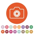 The camera icon Photo symbol Flat vector image vector image
