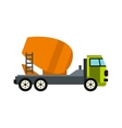 Truck mixer icon flat style vector image vector image