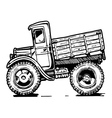 vintage truck vector image vector image