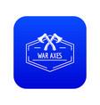 war axe icon blue vector image vector image
