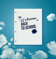 Welcome back to school Motivating poster vector image