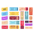 collection of colorful tickets vector image