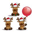 Santas Elks Sitting vector image