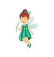 fairy cute girl isolated vector image