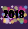 2018 happy new year background with black vector image