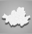 3d map region south korea vector image
