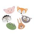 a set cartoon animals vector image vector image