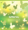 abstract spring greeting card or poster design vector image