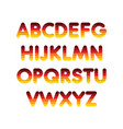 alphabet step gradient vector image