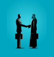 arabic businessman shake hand with western vector image vector image