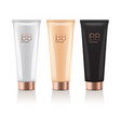 bb cream in different color of realistic tubes vector image vector image