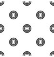 bearing pattern seamless black vector image vector image