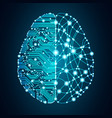 big data and artificial intelligence brain concept vector image vector image