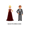 black tie dress code vector image vector image