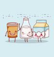 breakfast cute plastic cup milk bottle and cartoon