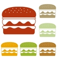 Burger simple sign vector image vector image