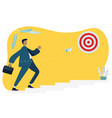 business man walking up the stairs vector image