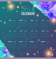 calendar 2018 abstract design planner template vector image