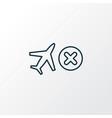cancelled flight icon line symbol premium quality vector image vector image