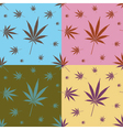 Cannabis leaf Pattern vector image vector image