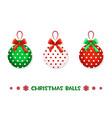 cartoon christmas green-red balls vector image vector image