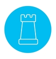 Chess line icon vector image vector image