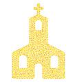 christian church mosaic of small circles vector image
