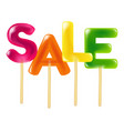 color sale candy vector image vector image