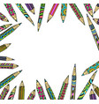 colored decorative pencils frame vector image vector image
