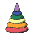 colored pyramid vector image vector image
