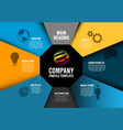 company profile infographic diagram template vector image