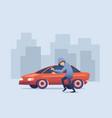 conceptual auto car insurance banner vector image