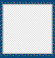 cute christmas or new year square frame with vector image vector image