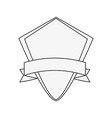 emblem with ribbon icon image vector image vector image
