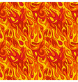 Fire flame seamless pattern vector image