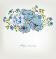 floral background blue flowers bouquet vector image