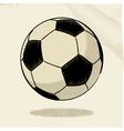 football sketch vector image