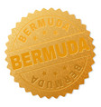 golden bermuda award stamp vector image vector image