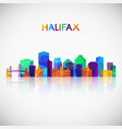 halifax skyline silhouette in colorful geometric vector image vector image