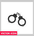 handcuffs icon vector image vector image