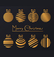 luxury golden balls vector image vector image