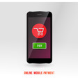 Mobile online payment service vector image vector image