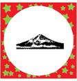mount fuji japan black 8-bit vector image vector image