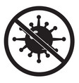 no bacteria icon on white background no virus vector image