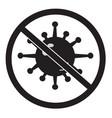 no bacteria icon on white background virus